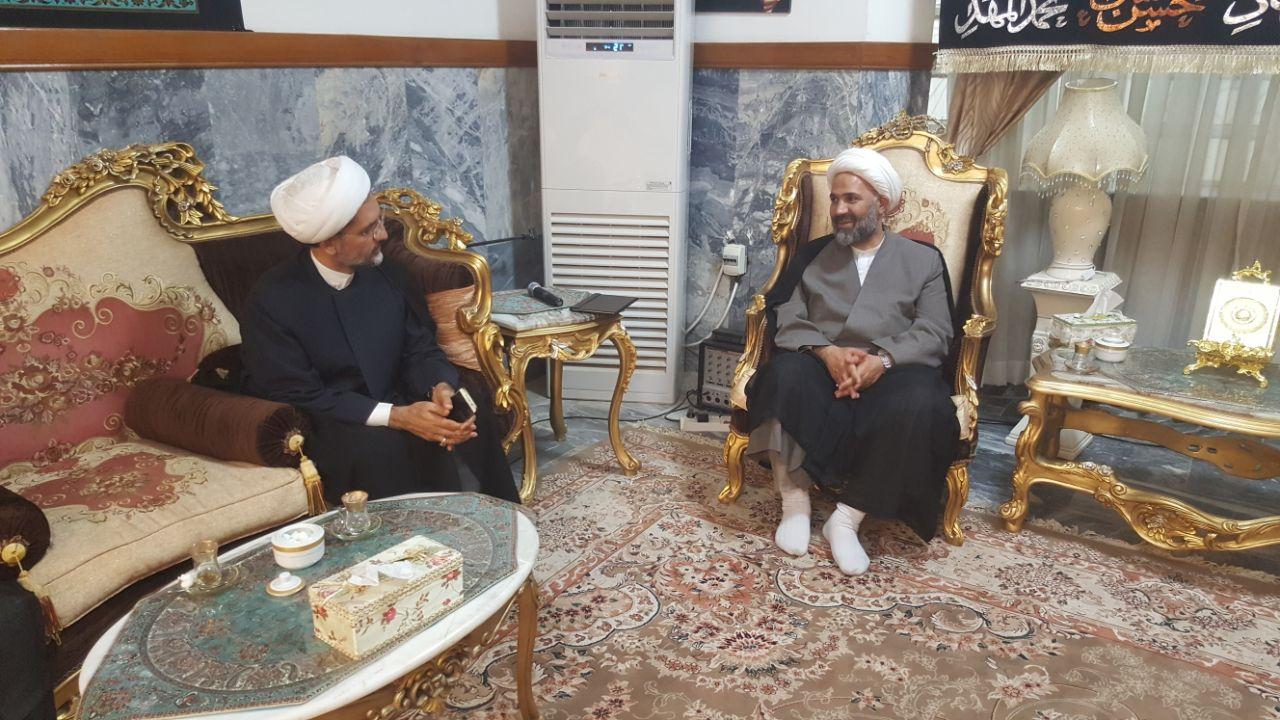 گزارش تصویری/دیدار حجت الاسلام پژمانفر، نایب رئیس کمیسیون فرهنگی با رایزن فرهنگی عراق