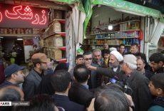 بازدید حجت الاسلام پژمان فر از بازار کالاهای اساسی مشهد